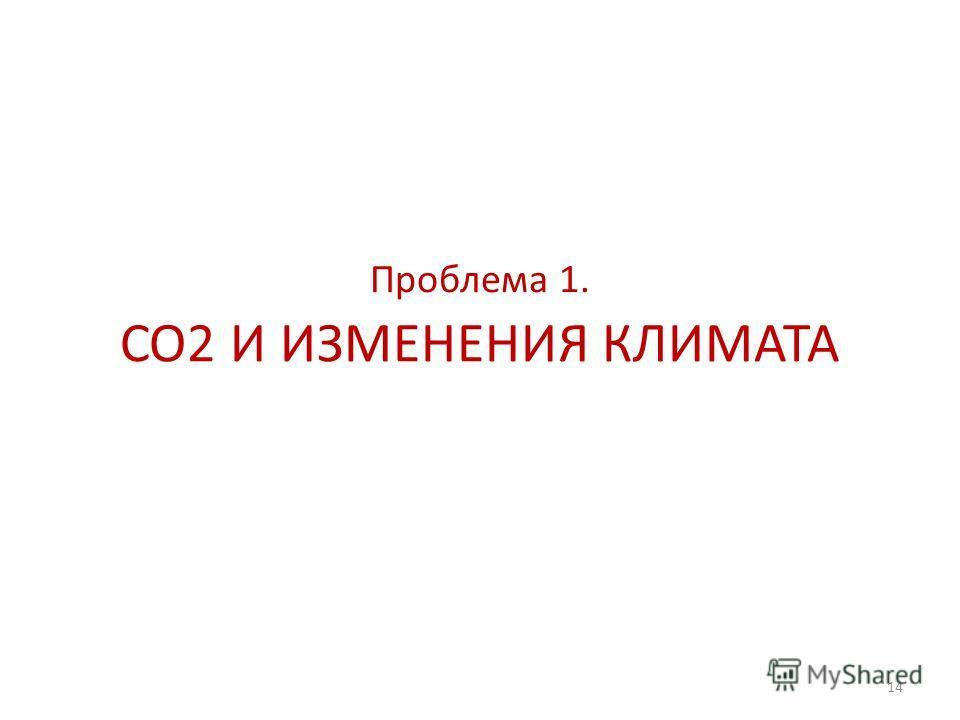 14 CO2 И ИЗМЕНЕНИЯ КЛИМАТА Проблема 1.