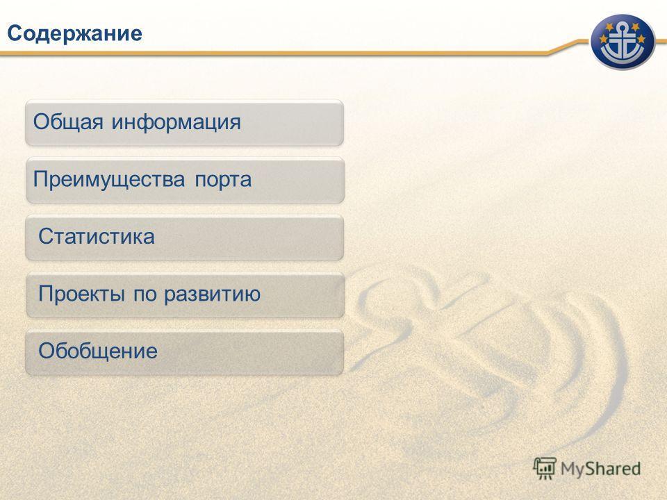 Содержание Общая информация Преимущества порта Статистика Проекты по развитию Обобщение