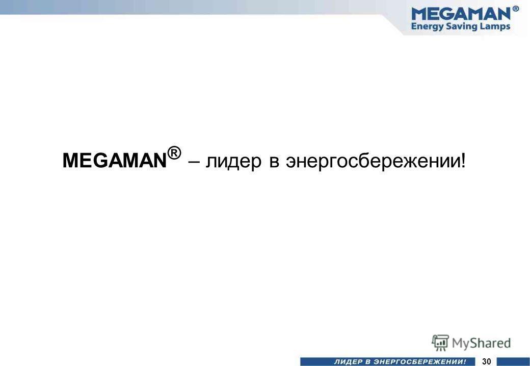 MEGAMAN ® – лидер в энергосбережении! 30