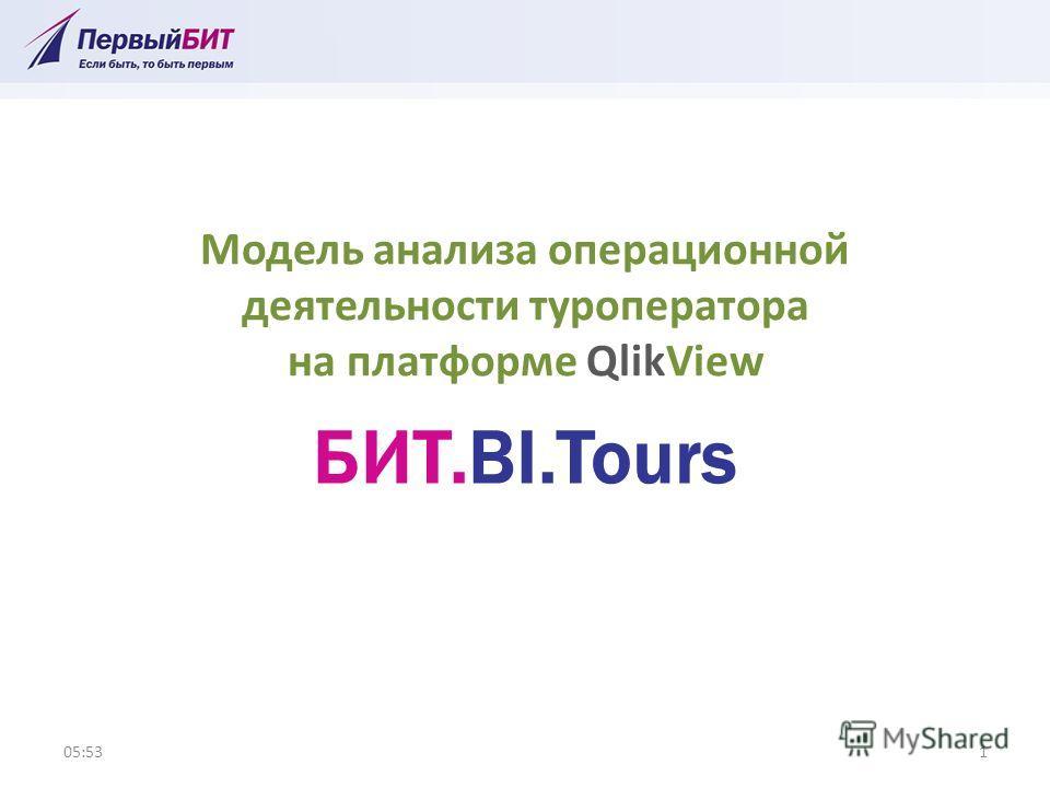 Модель анализа операционной деятельности туроператора на платформе QlikView 05:541 БИТ.BI.Tours