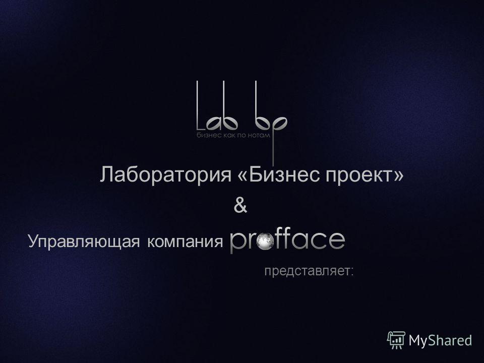 представляет: Лаборатория «Бизнес проект» Управляющая компания &