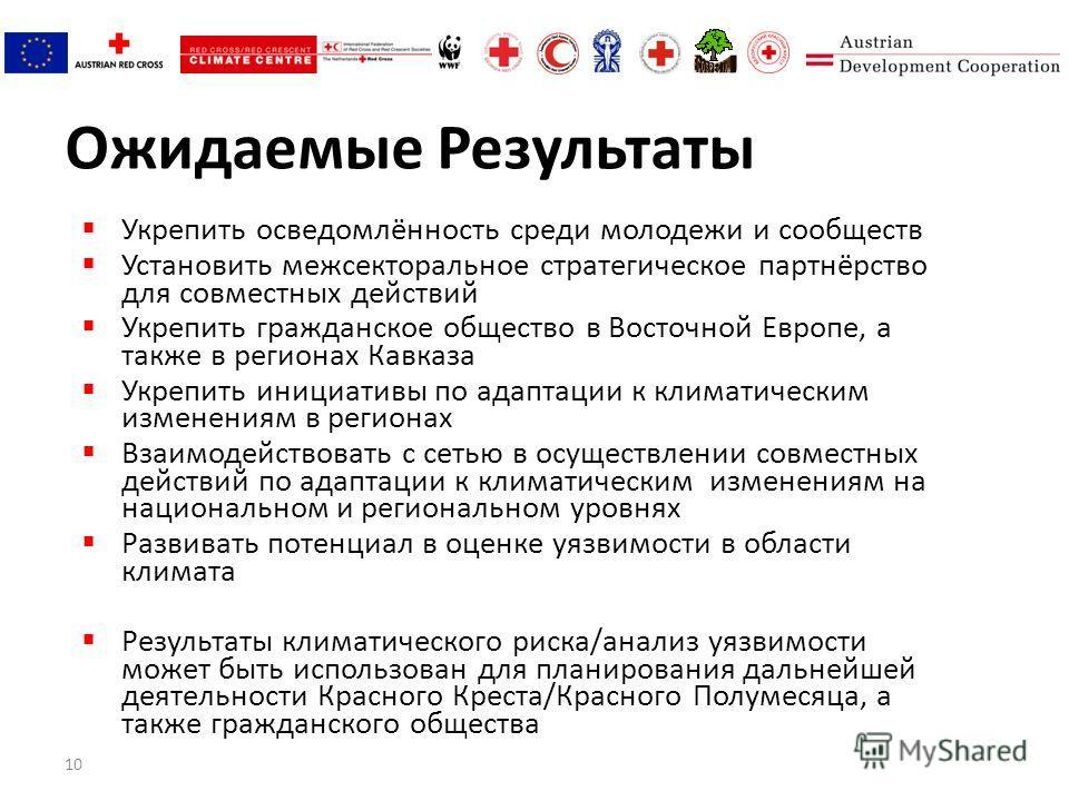 10 Ожидаемые Результаты Укрепить осведомлённость среди молодежи и сообществ Установить межсекторальное стратегическое партнёрство для совместных действий Укрепить гражданское общество в Восточной Европе, а также в регионах Кавказа Укрепить инициативы