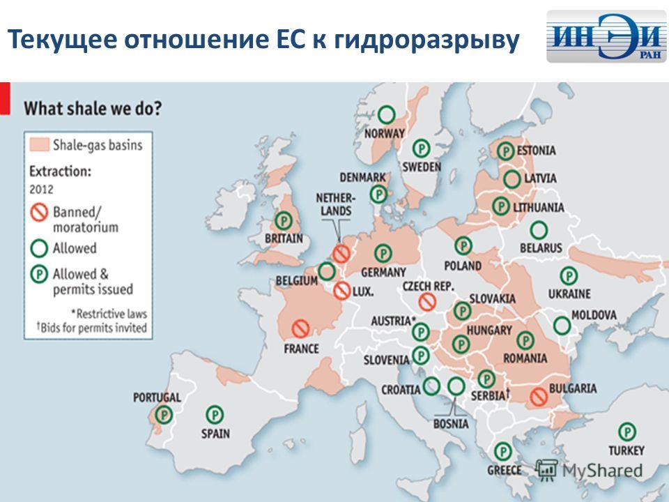 Текущее отношение ЕС к гидроразрыву