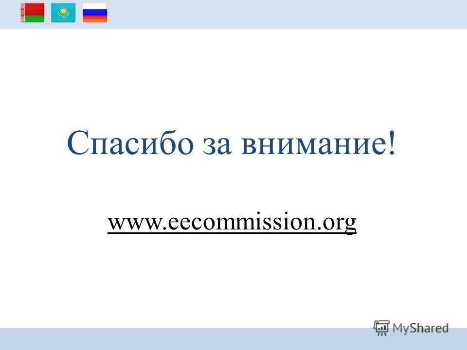 Спасибо за внимание! www.eecommission.org