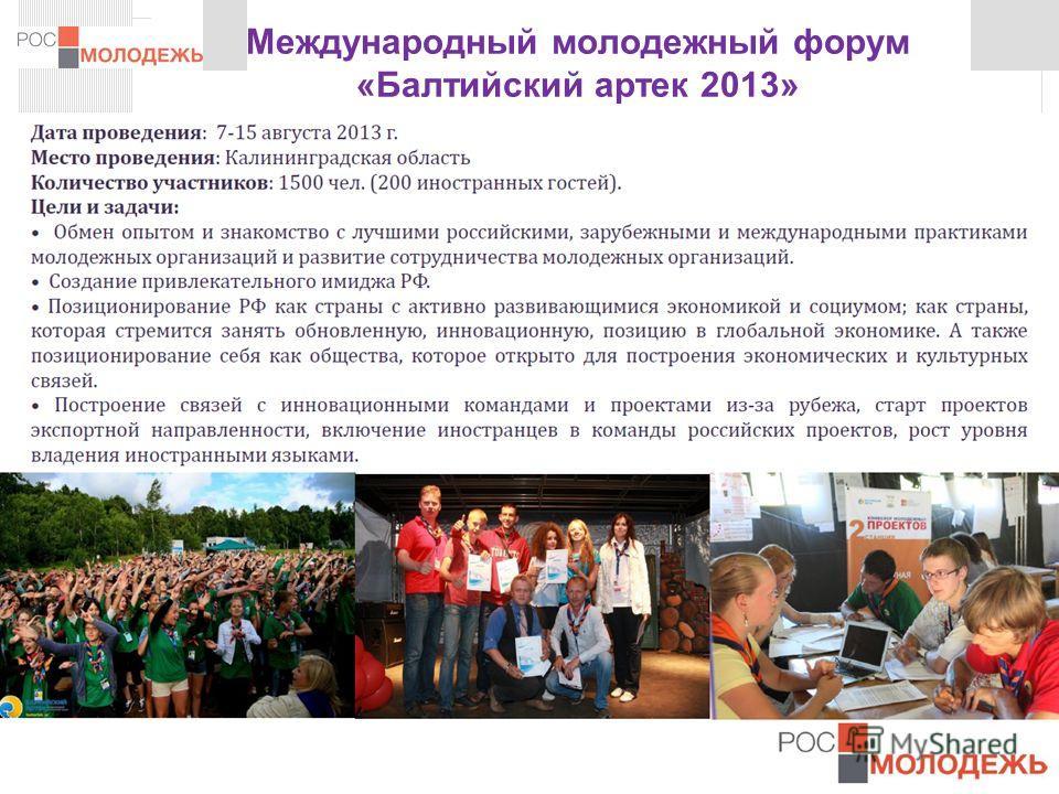 www.fadm.gov.ru Международный молодежный форум «Балтийский артек 2013» 12