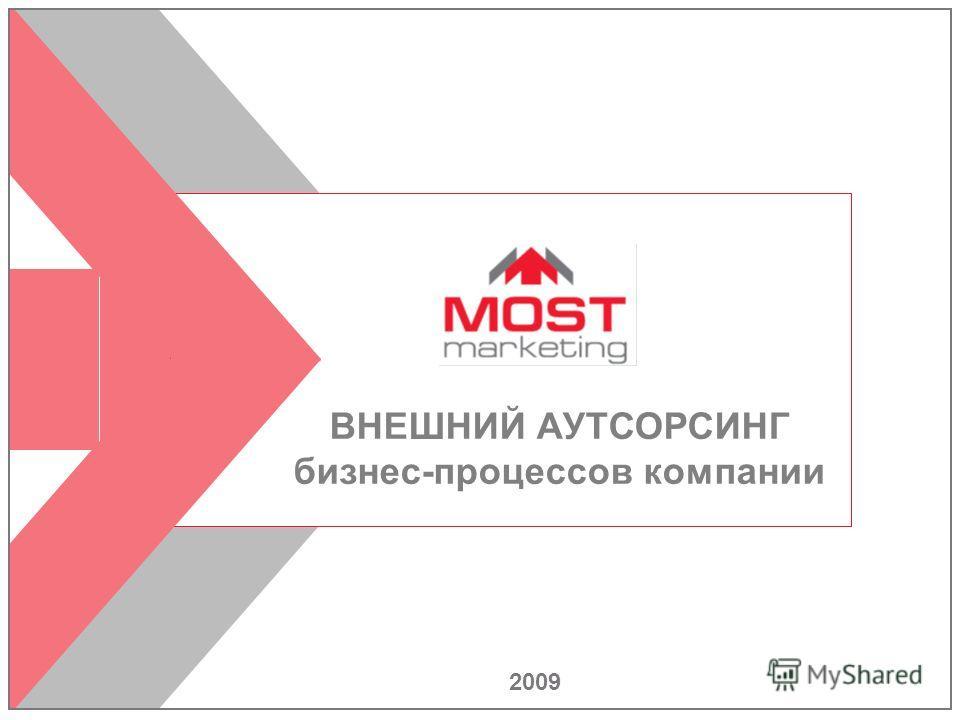 1 2009 ВНЕШНИЙ АУТСОРСИНГ бизнес-процессов компании