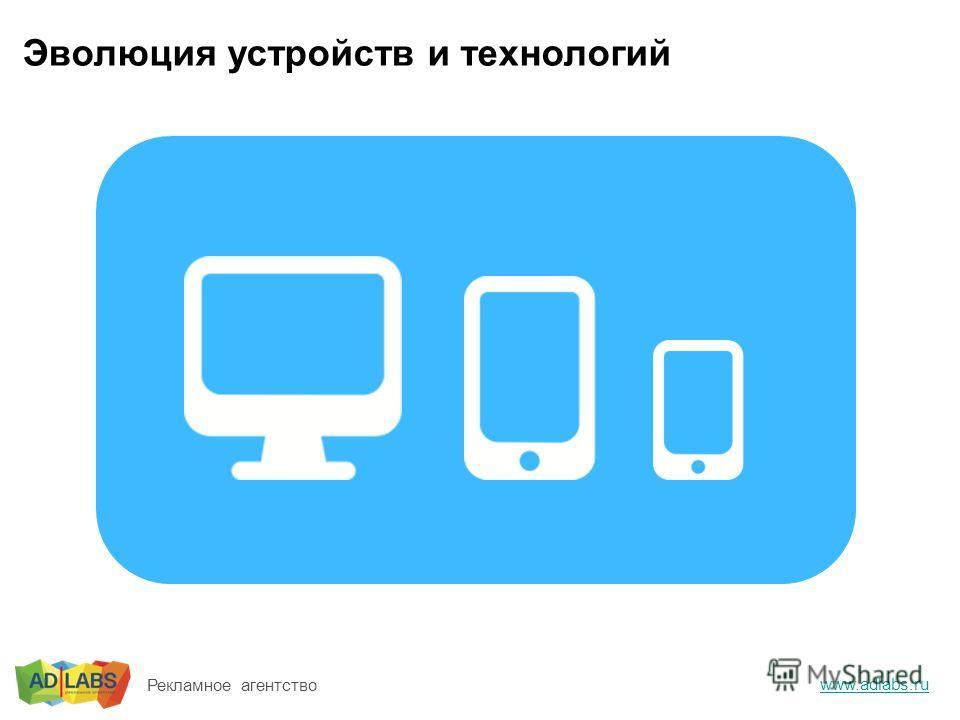 Эволюция устройств и технологий www.adlabs.ru Рекламное агентство