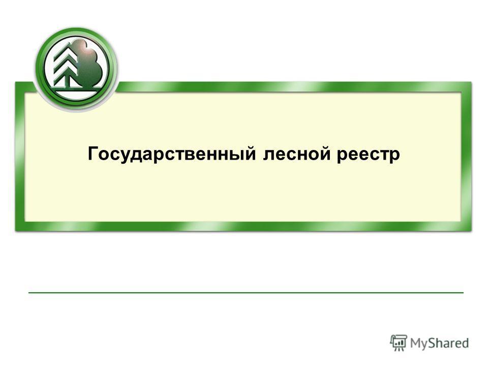 Государственный лесной реестр