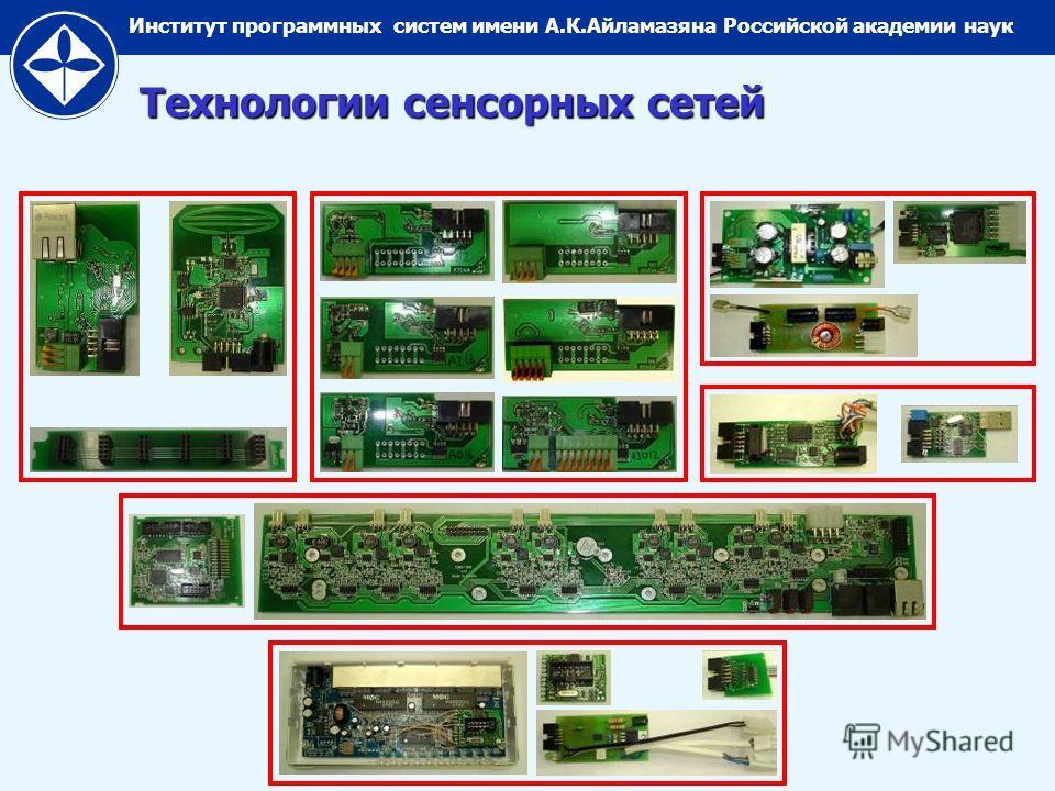 Институт программных систем имени А.К.Айламазяна Российской академии наук Технологии сенсорных сетей