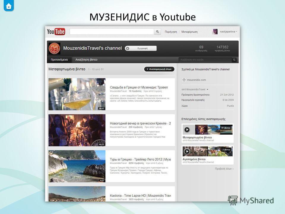 МУЗЕНИДИС в Youtube