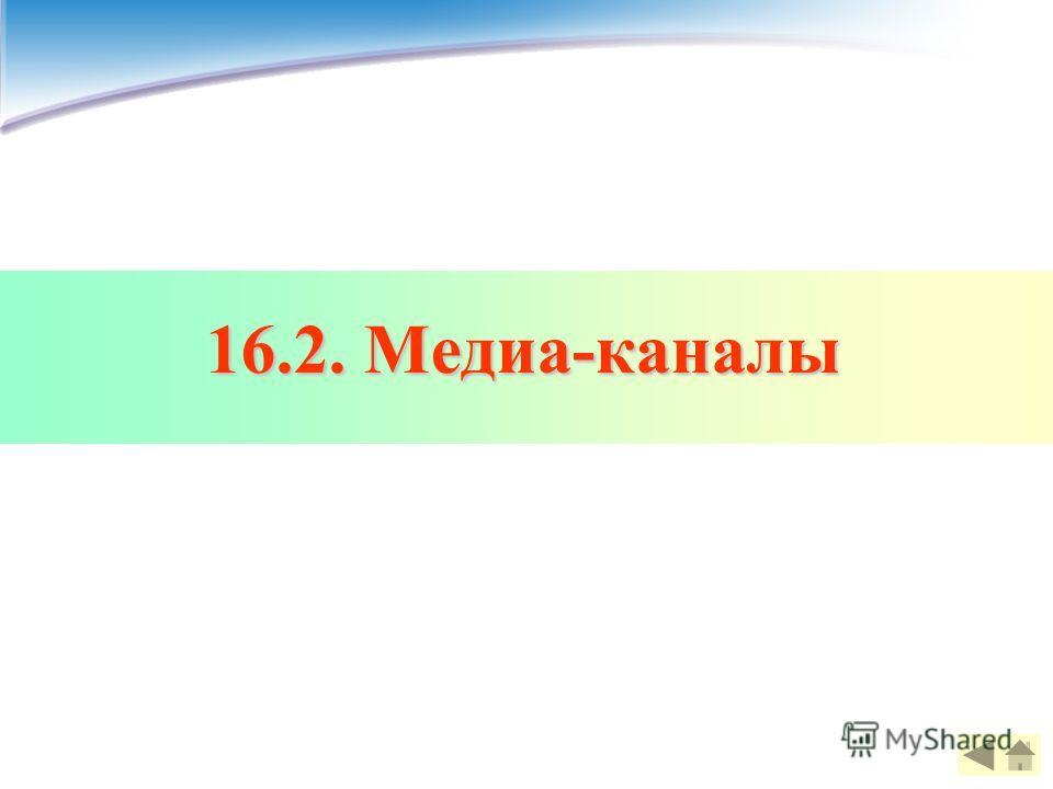 16.2. Медиа-каналы