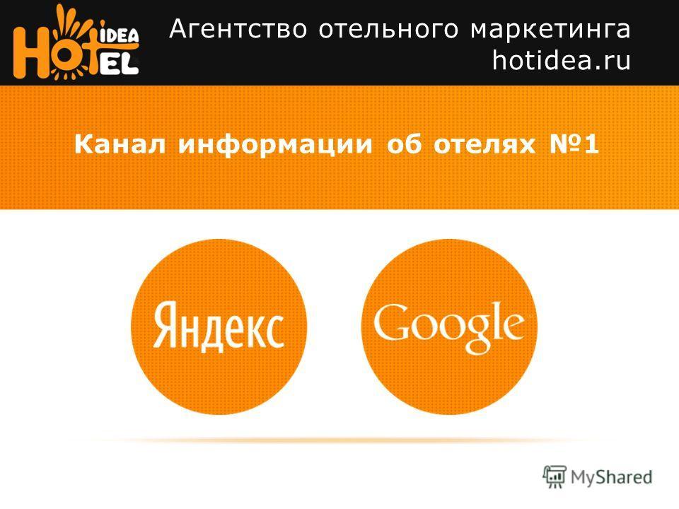 Агентство отельного маркетинга hotidea.ru Канал информации об отелях 1 И