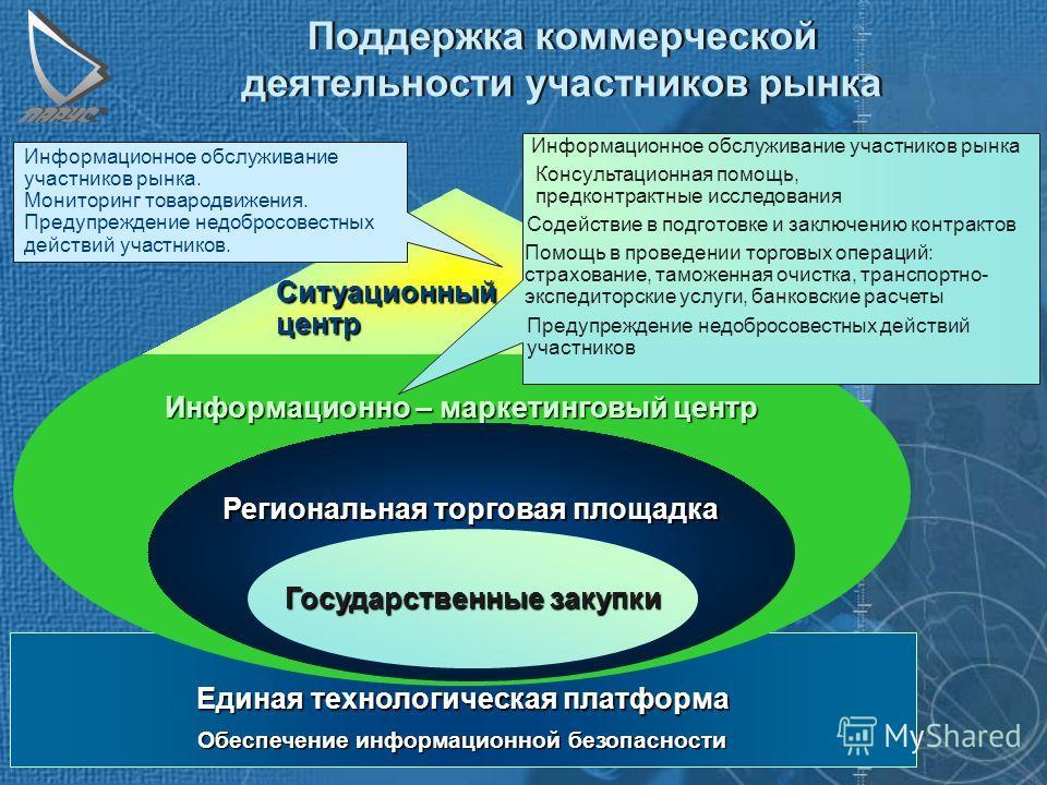 Развитие систем электронной торговли для государственных нужд Проведение экономической политики через систему государственного заказа например, использование технологий электронной торговли и государственного заказа для конкурсного бюджетного кредито