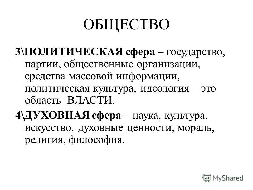 Общество 3 политическая сфера