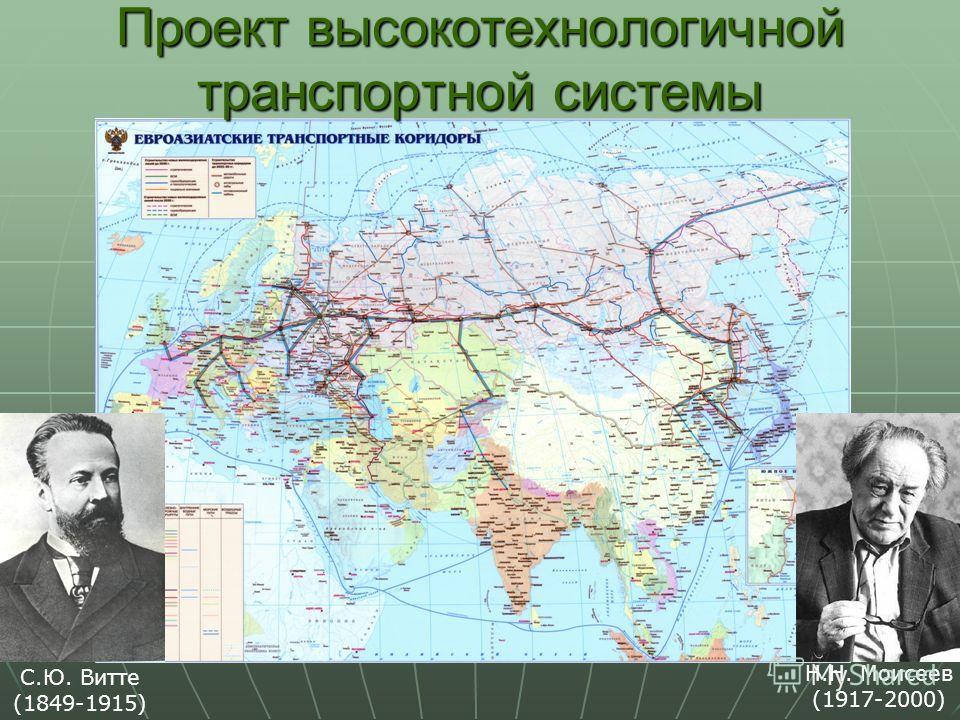 Н.Н. Моисеев (1917-2000) С.Ю. Витте (1849-1915) Проект высокотехнологичной транспортной системы