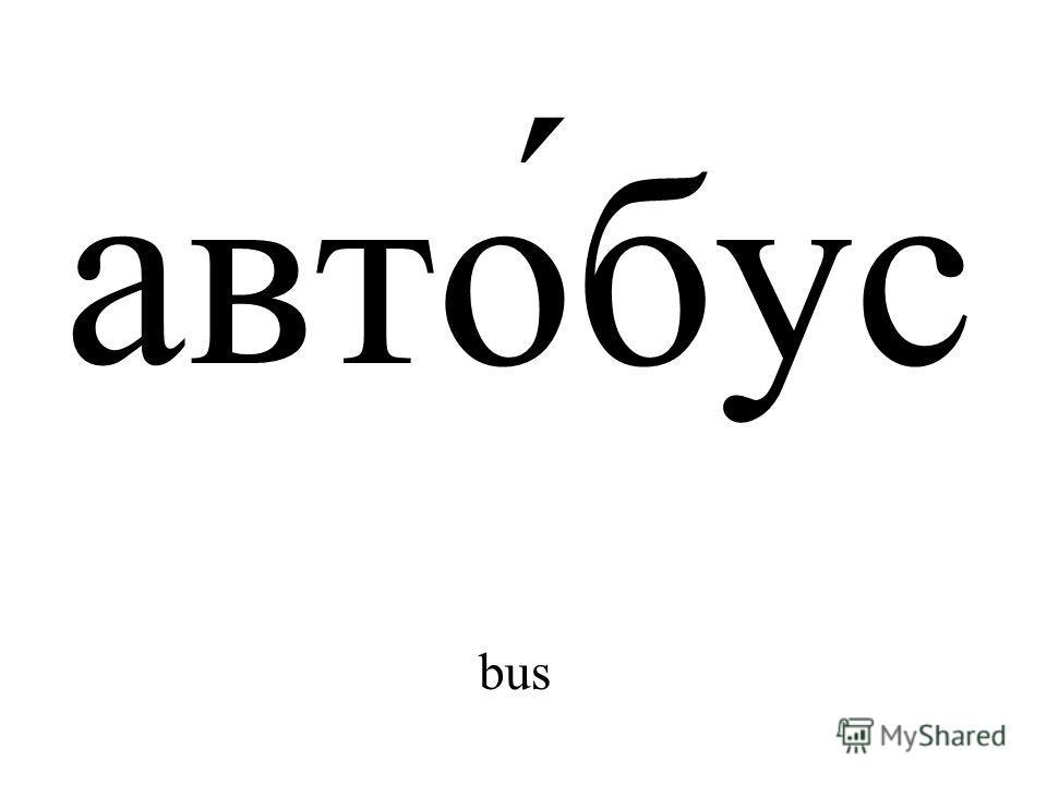 авто́бус bus
