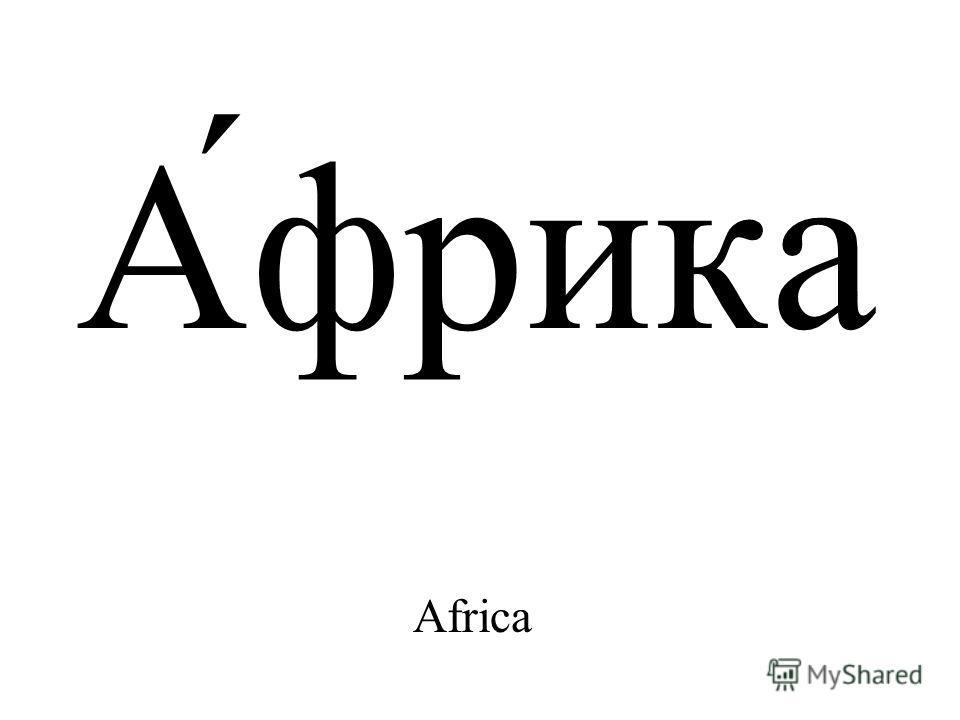 А́фрика Africa