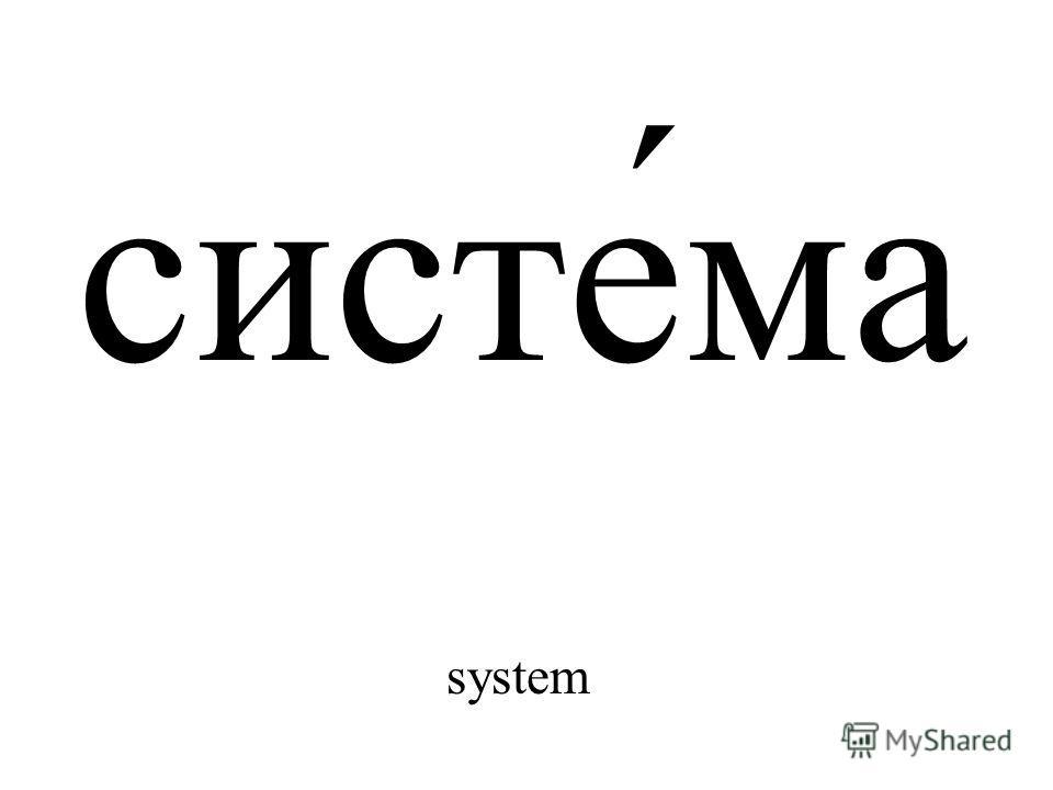 систе́ма system