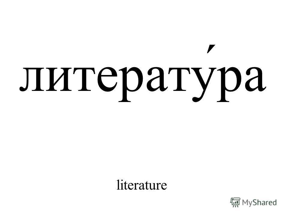 литерату́ра literature