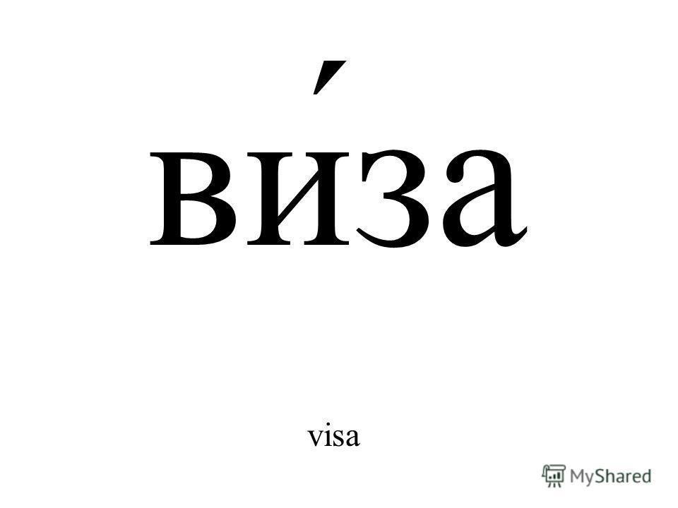 ви́за visa