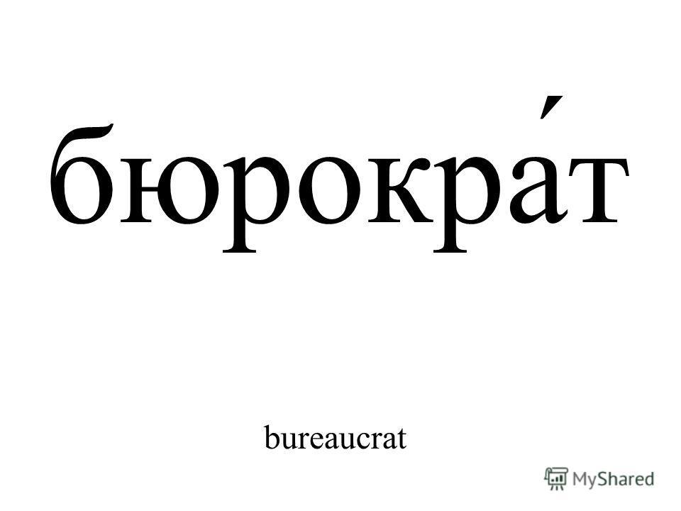 бюрокра́т bureaucrat