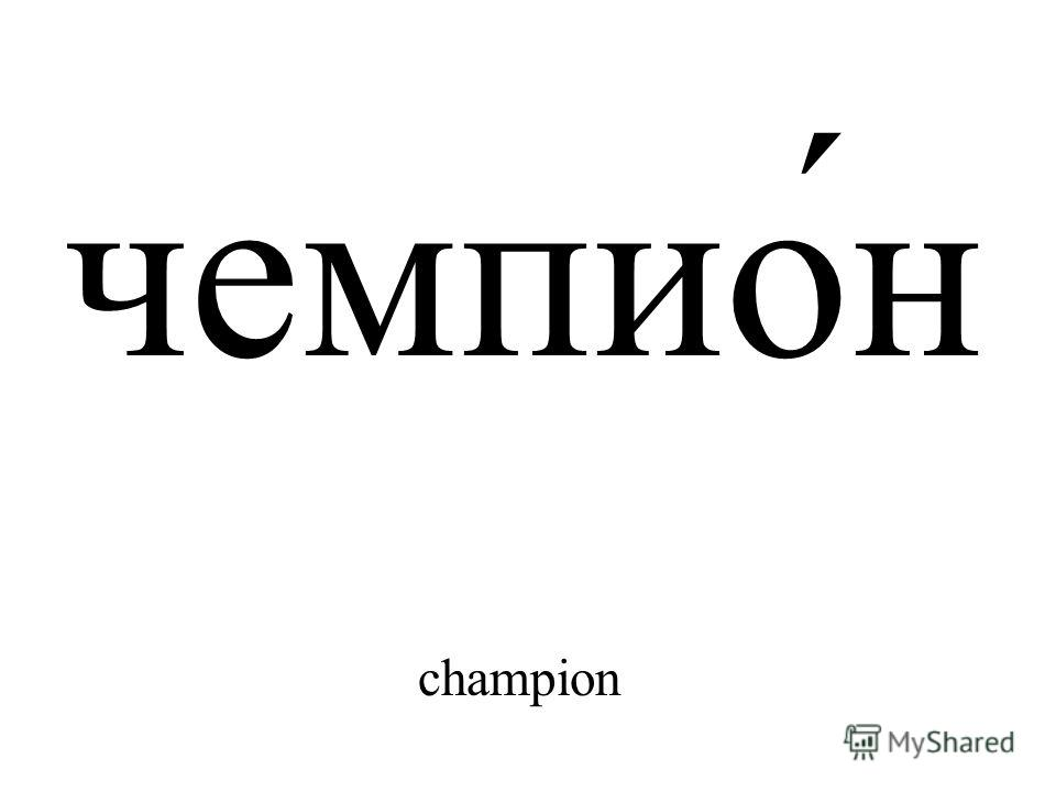 чемпио́н champion