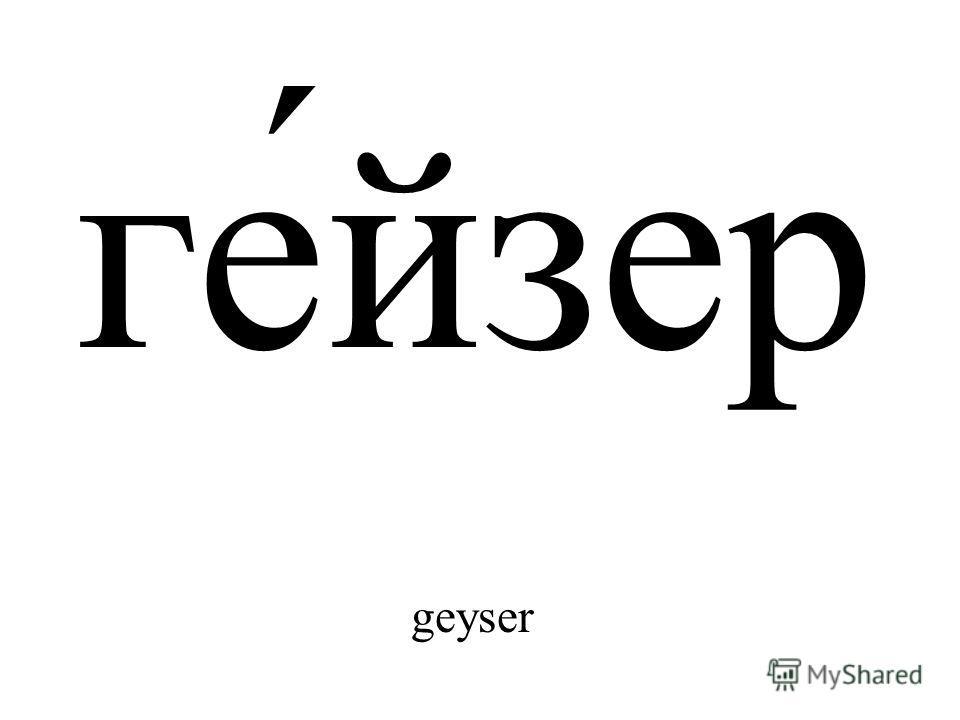 ге́йзер geyser