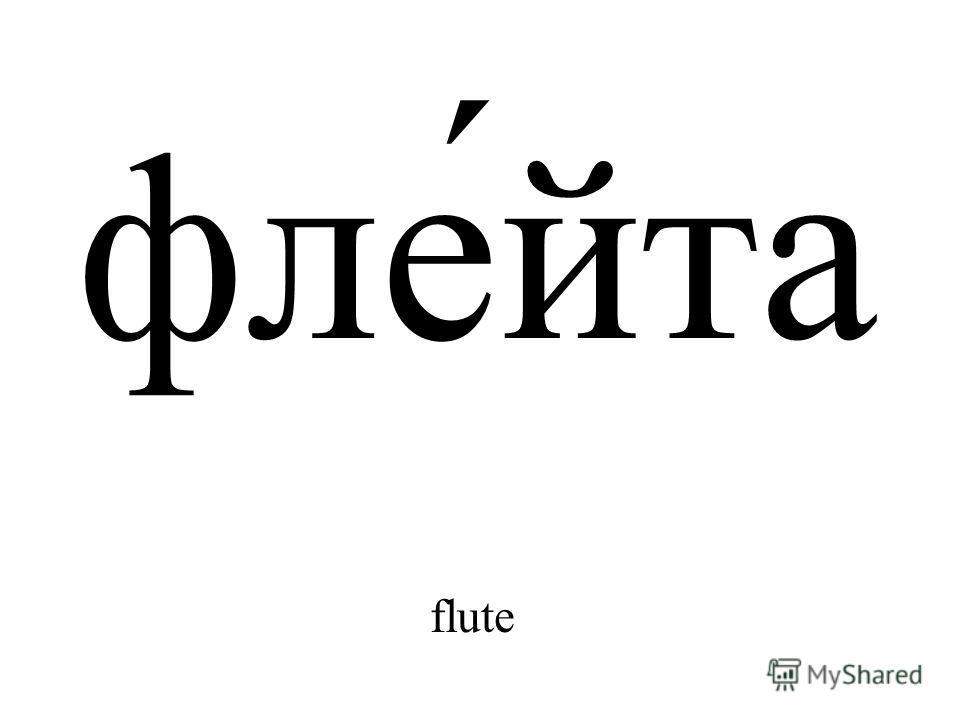 фле́йта flute