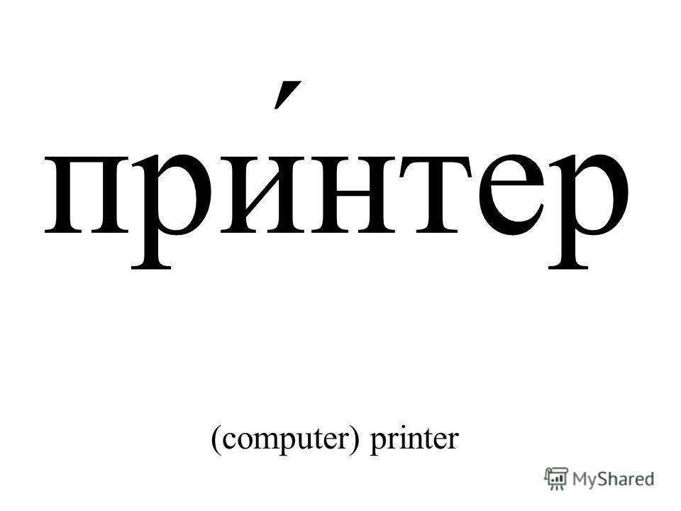 при́нтер (computer) printer