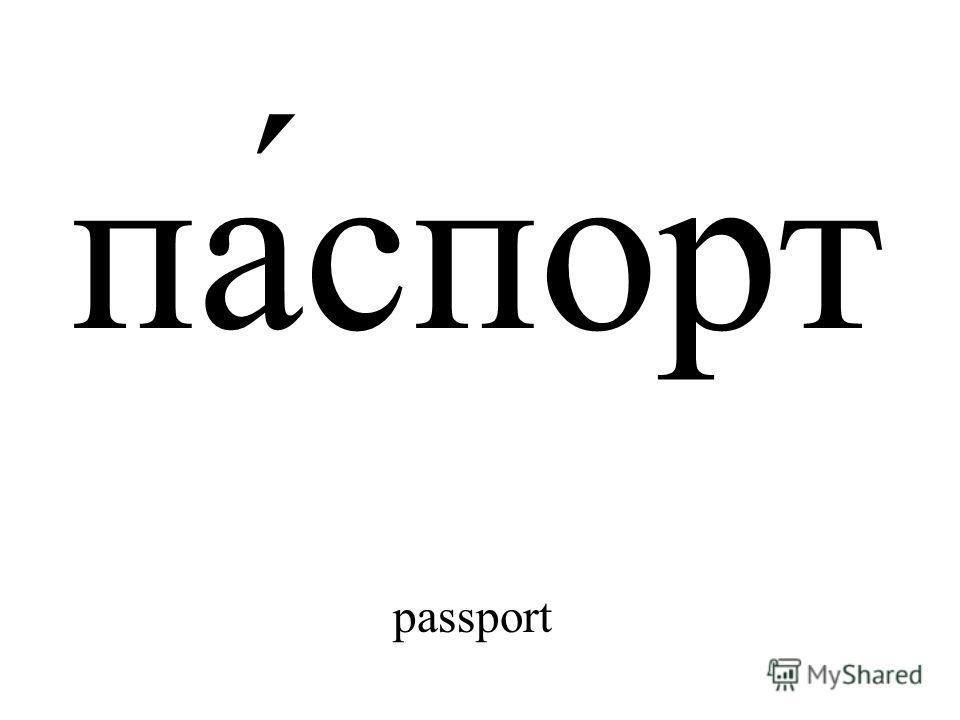 па́спорт passport