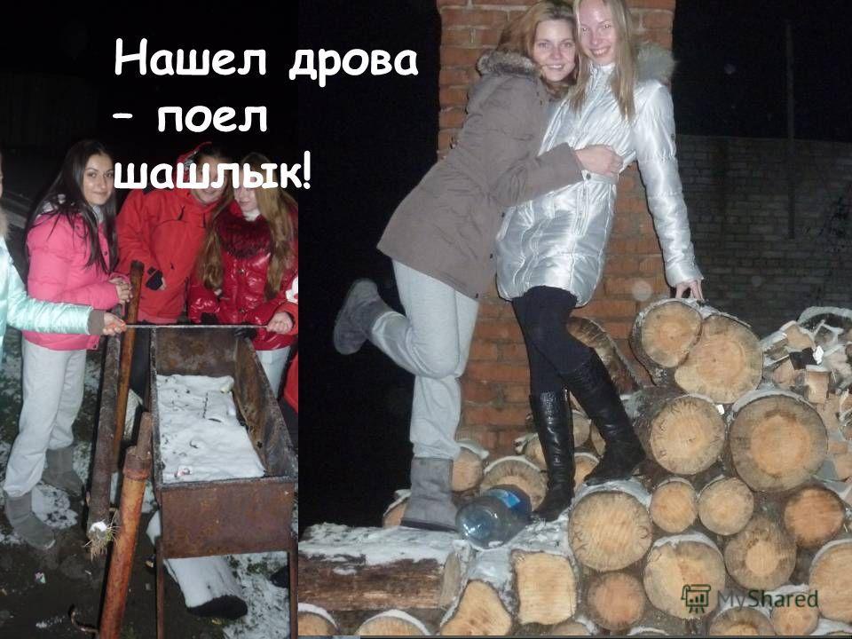 Нашел дрова – поел шашлык!