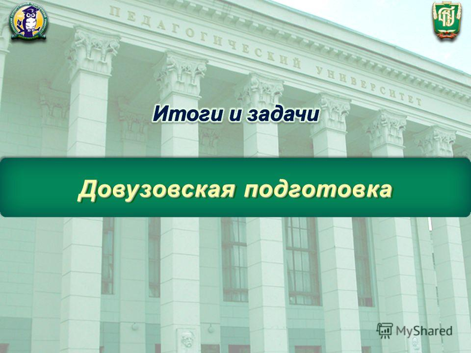 ФГБОУ ВПО «Челябинский государственный педагогический университет» Довузовская подготовка