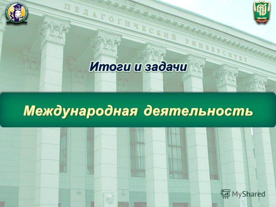 ФГБОУ ВПО «Челябинский государственный педагогический университет» Международная деятельность