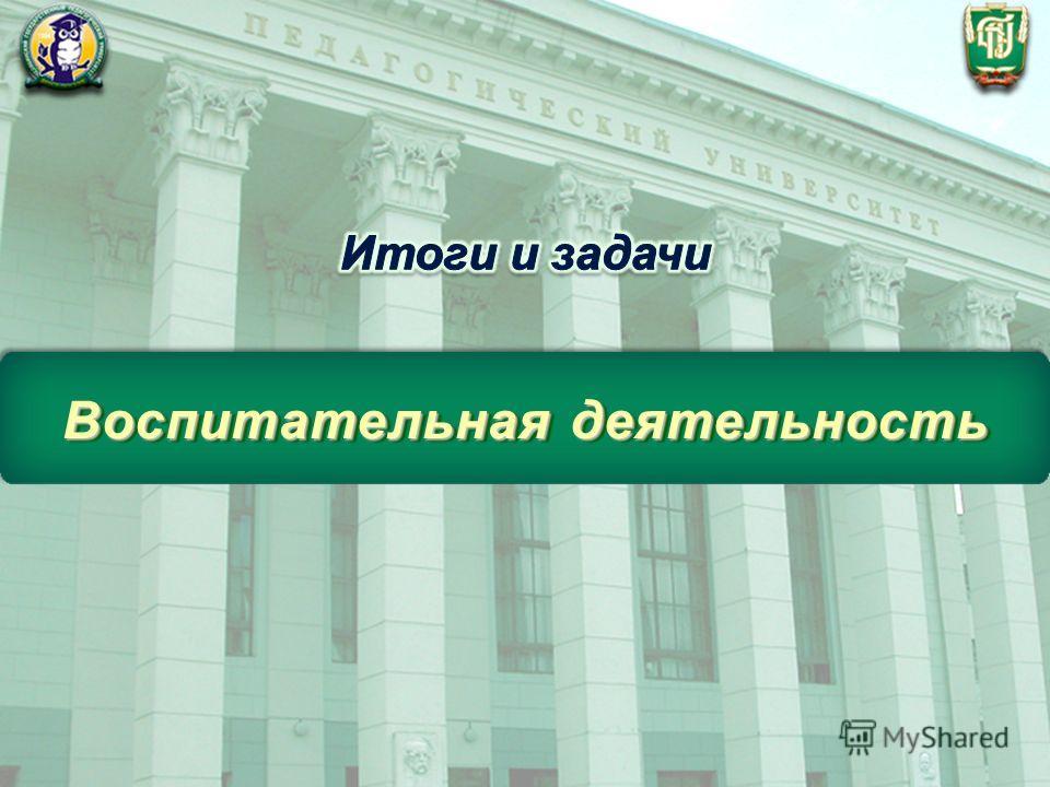 ФГБОУ ВПО «Челябинский государственный педагогический университет» Воспитательная деятельность