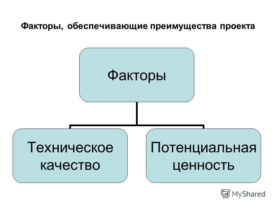 Факторы, обеспечивающие преимущества проекта