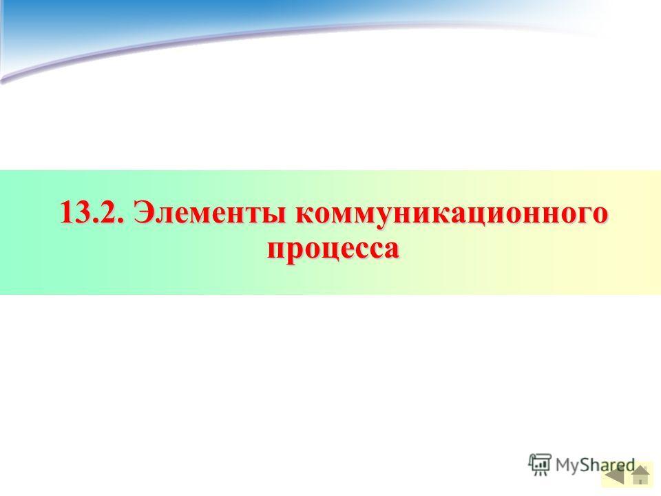 13.2. Элементы коммуникационного процесса