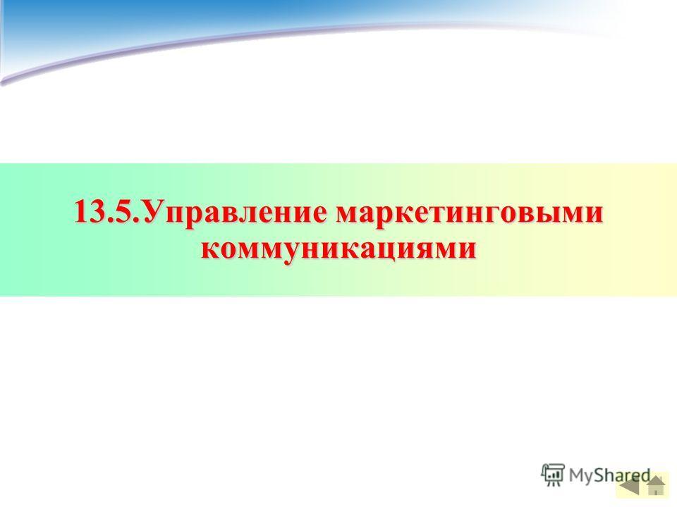 13.5.Управление маркетинговыми коммуникациями