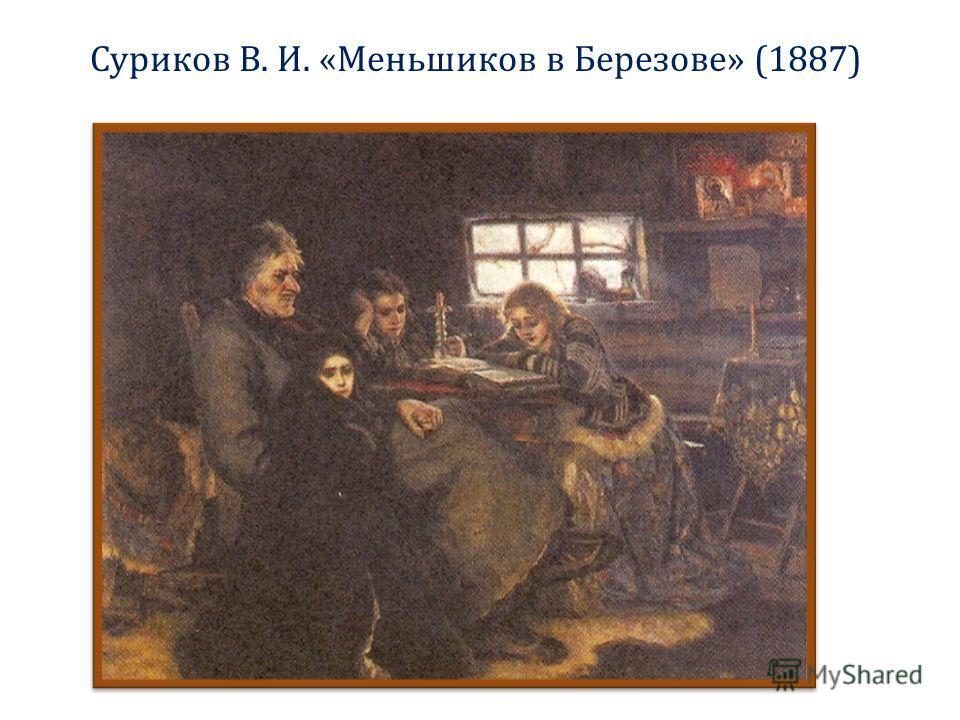 Суриков В. И. «Меньшиков в Березове» (1887)