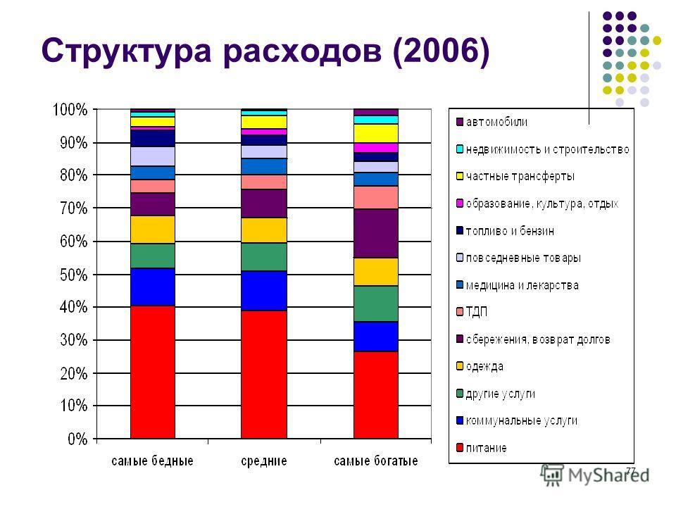 77 Структура расходов (2006)