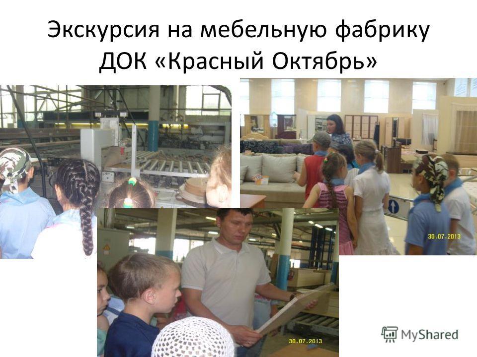 Экскурсия на мебельную фабрику ДОК «Красный Октябрь»