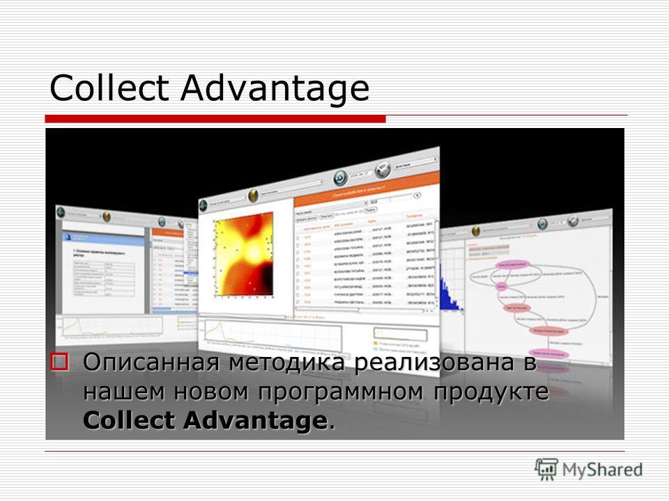 Collect Advantage Описанная методика реализована в нашем новом программном продукте Collect Advantage. Описанная методика реализована в нашем новом программном продукте Collect Advantage.