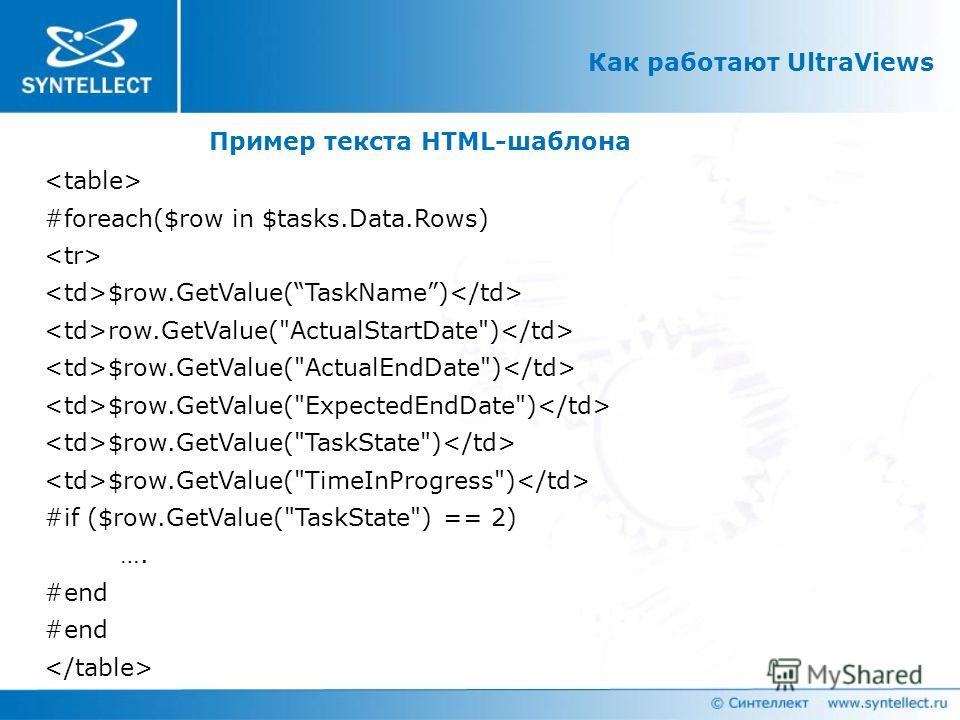 Как работают UltraViews #foreach($row in $tasks.Data.Rows) $row.GetValue(TaskName) row.GetValue(