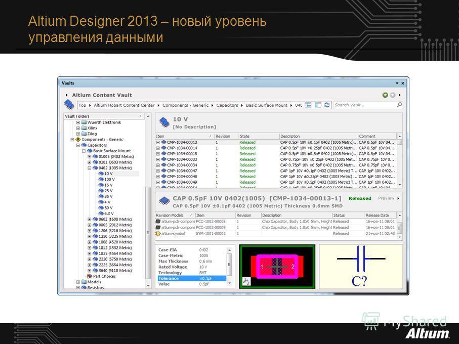 Altium Designer 2013 – новый уровень управления данными