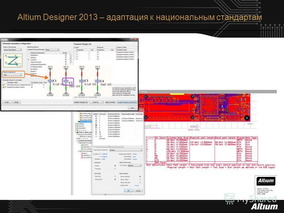 Altium Designer 2013 – адаптация к национальным стандартам