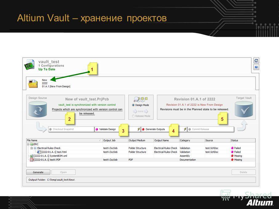 Altium Vault – хранение проектов