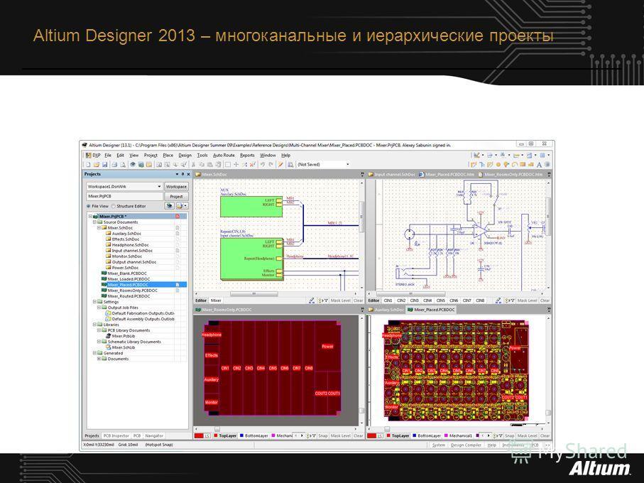 Altium Designer 2013 – многоканальные и иерархические проекты