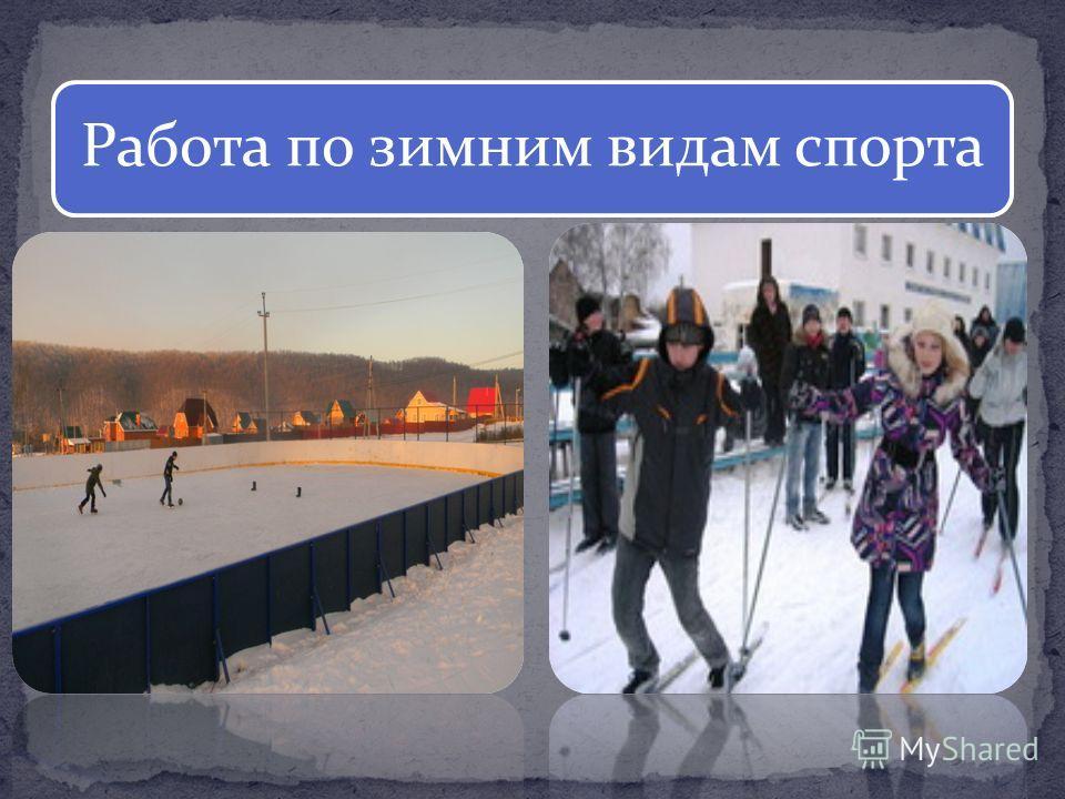 Работа по зимним видам спорта