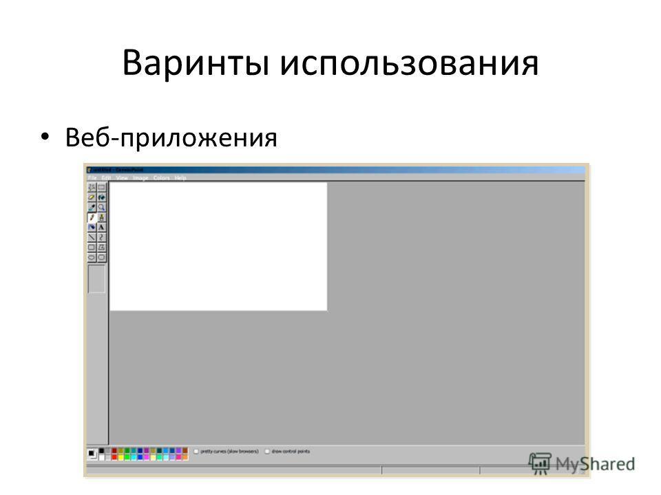Варинты использования Веб-приложения