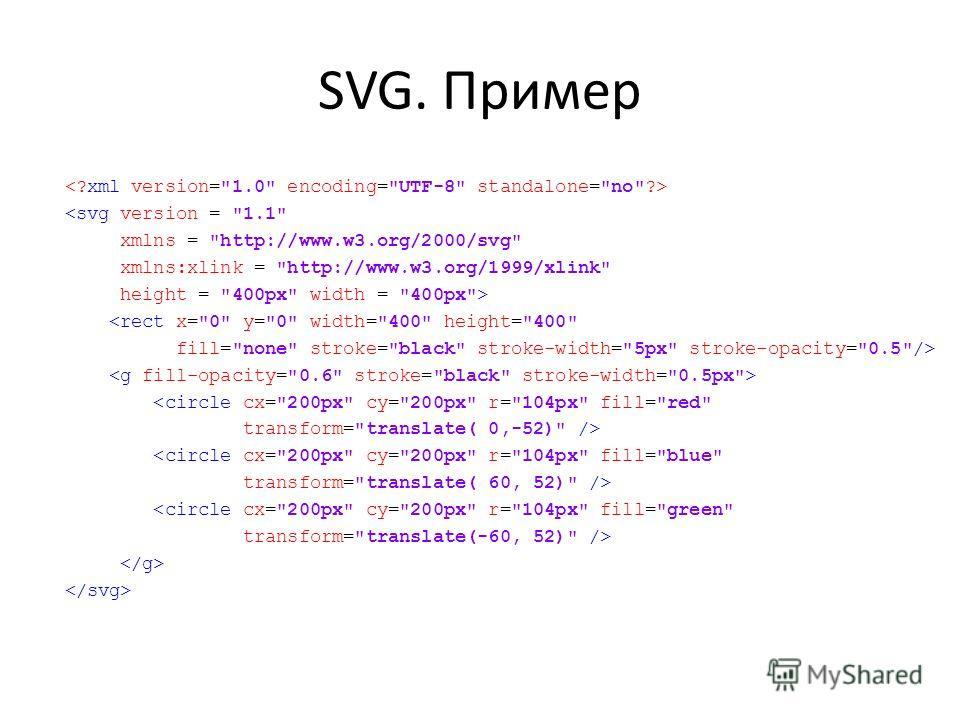 SVG. Пример