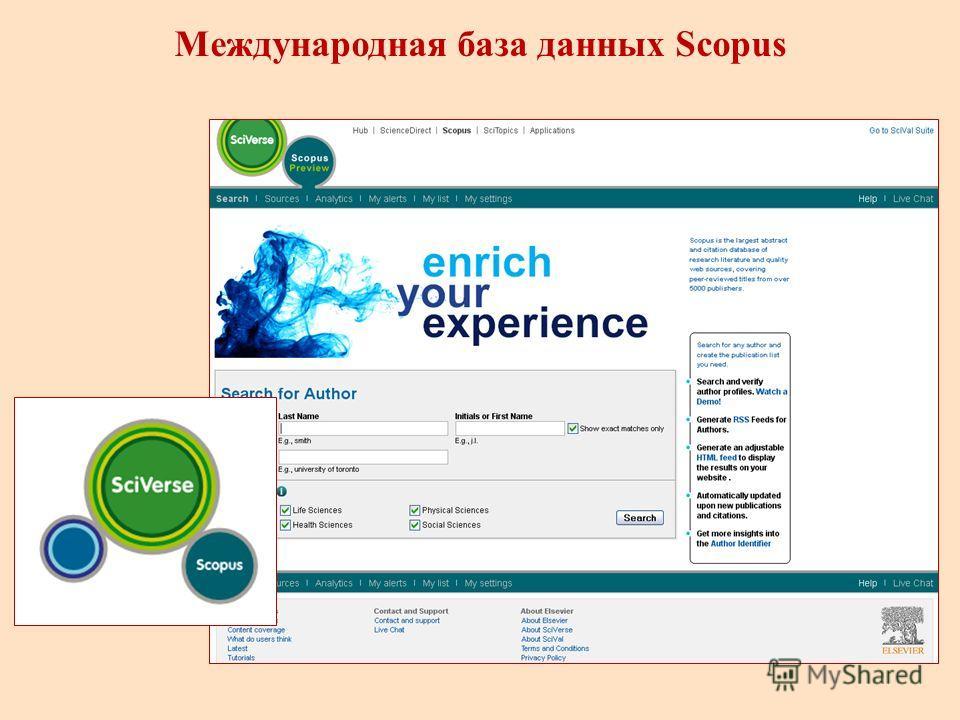 Международная база данных Scopus